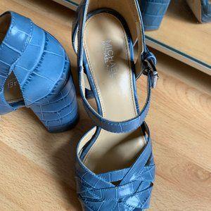 Michael Kors baby blue sandals, size 6.5